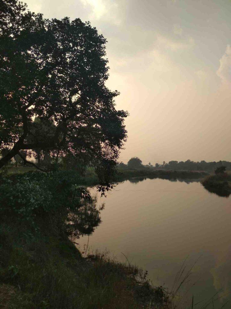 shantiniketan kopai river image